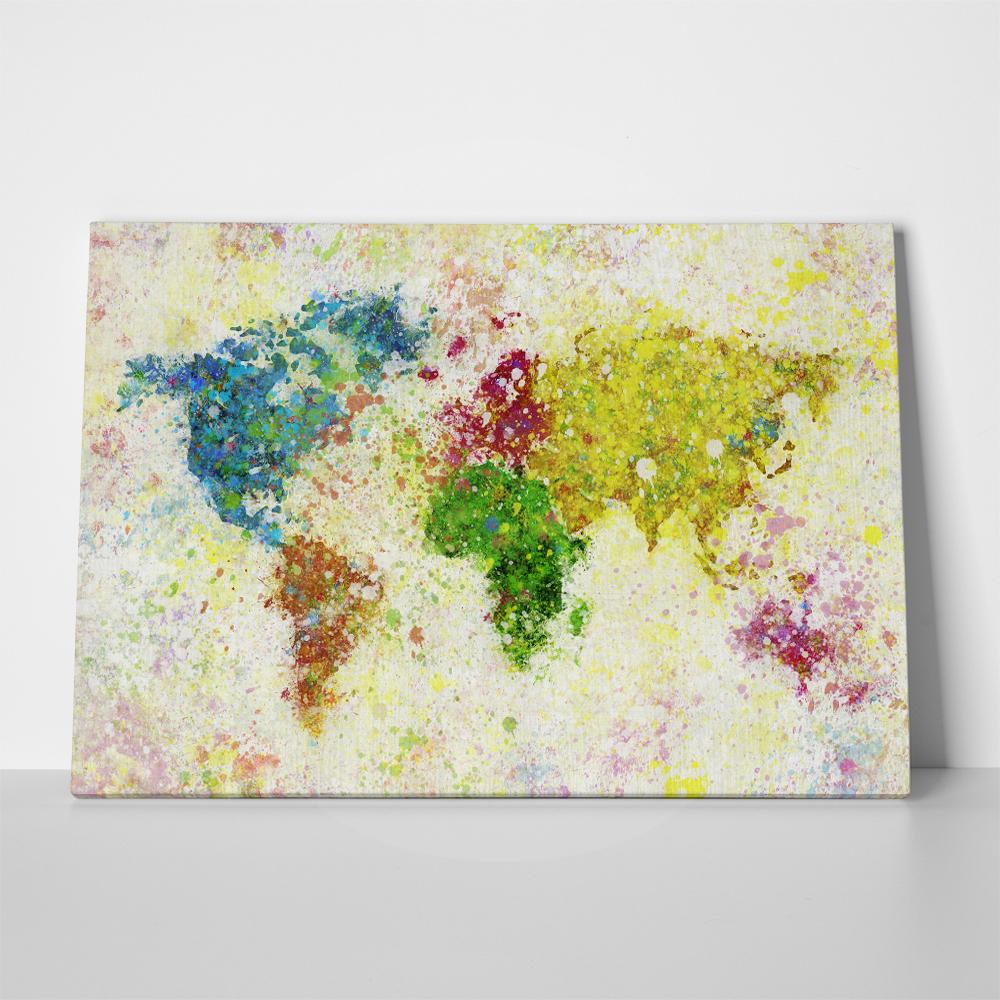Πίνακας PAPER PAINTING WORLD MAP