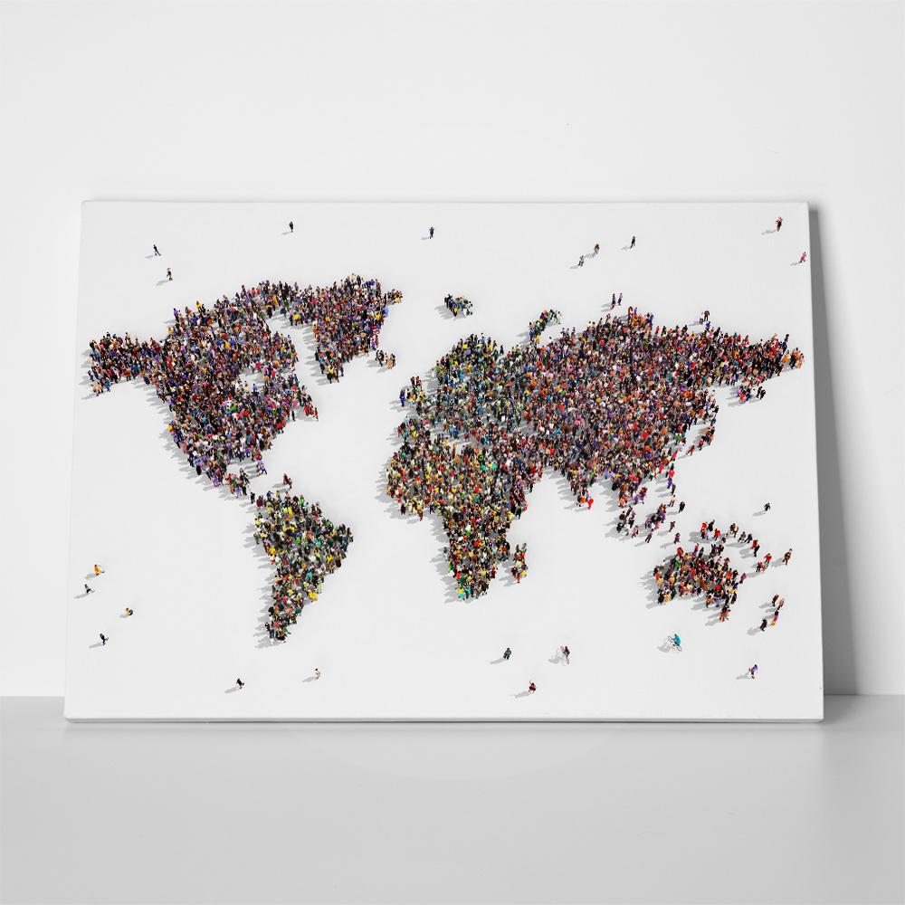 12e86e1a0cb Πίνακας PEOPLE WORLD MAP 7008 ⋆ MeAndHome.gr