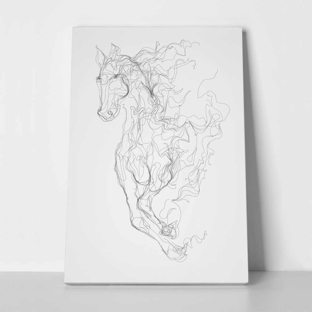 Πίνακας HORSE LINES DRAWING VECTOR