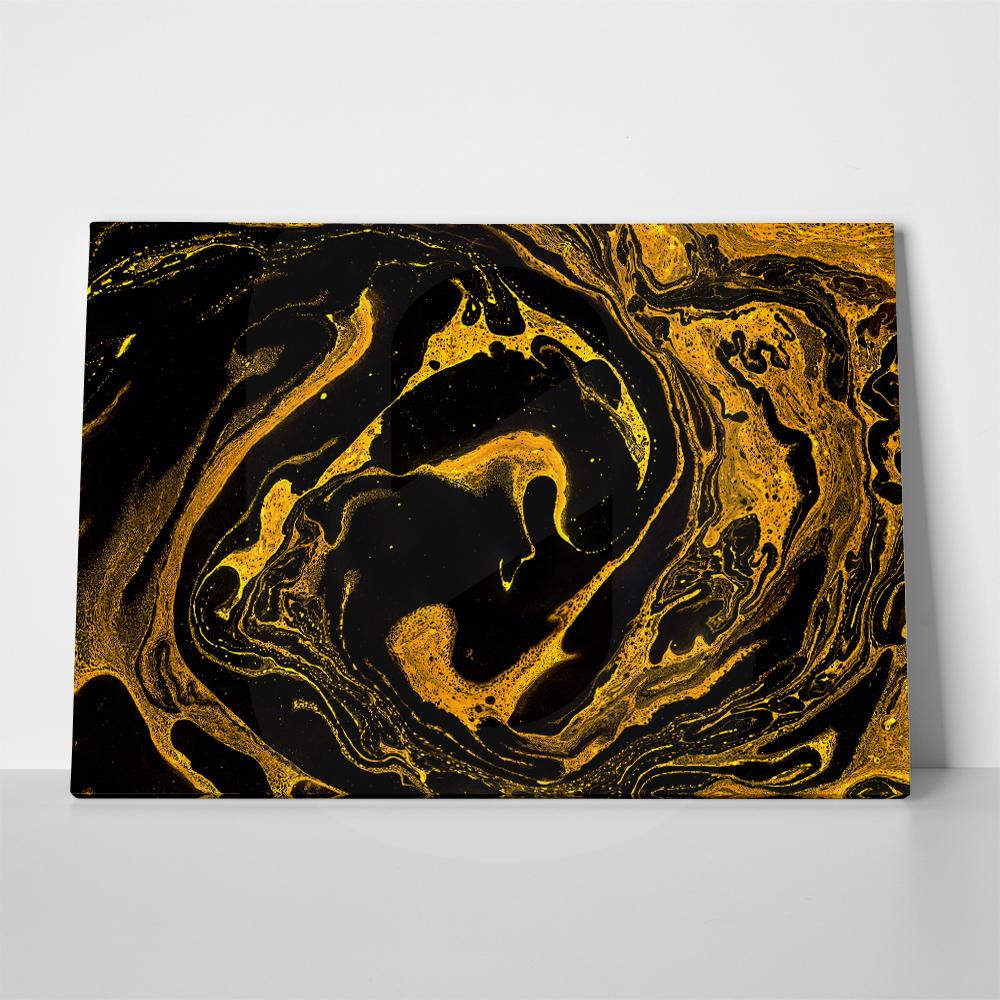 Πίνακας GOLDEN BLACK MIXED PAINTS