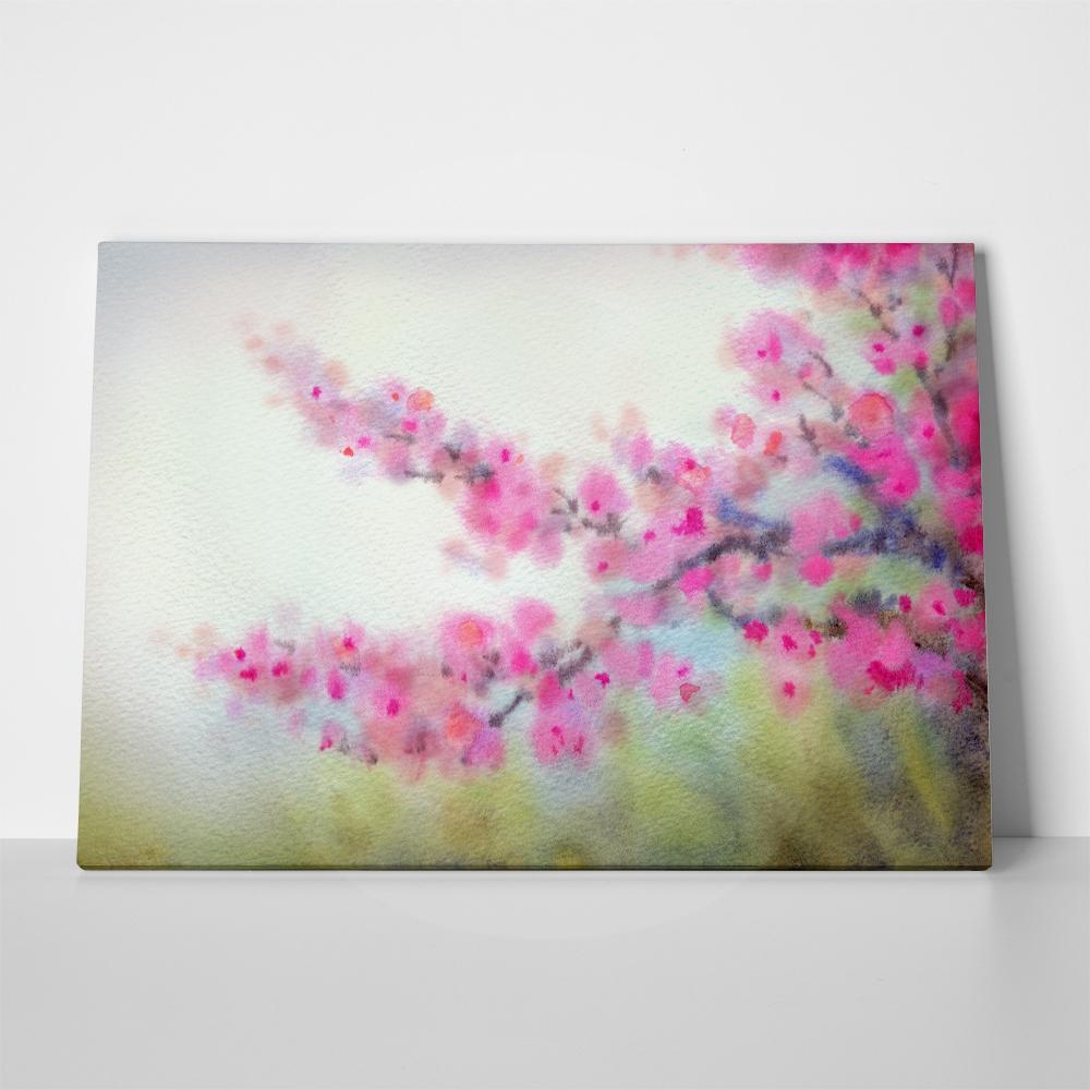 Πίνακας BEAUTIFUL JAPANESE MAGENTA FLOWERS