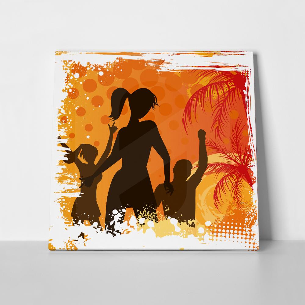 Πίνακας σε καμβά DANCING PEOPLE
