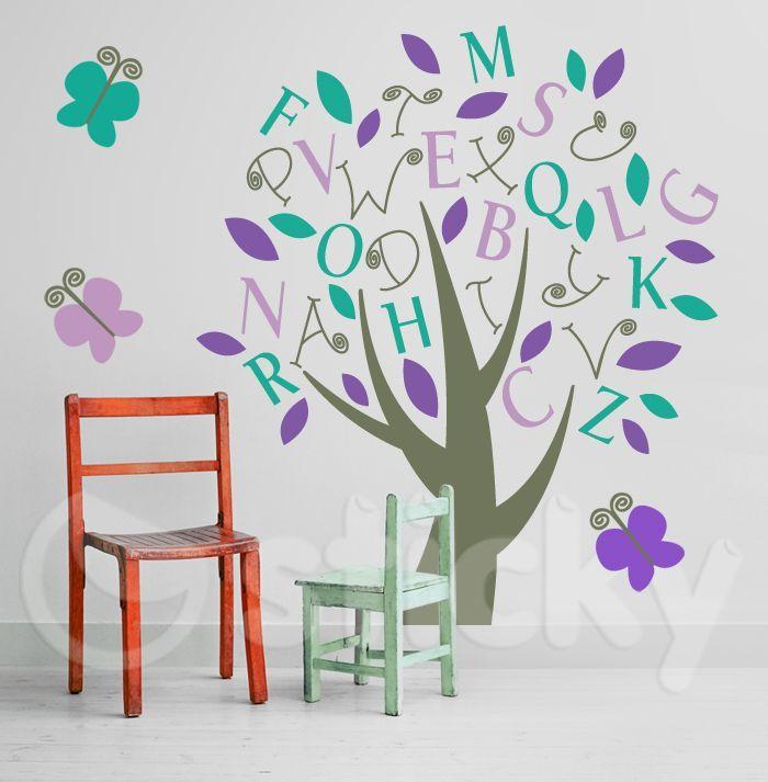 Αυτοκόλλητο τοίχου ALPHABET TREE