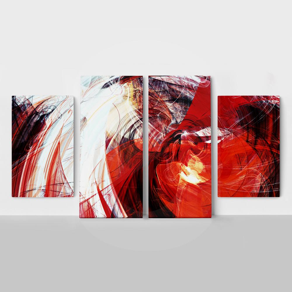 Τετράπτυχος ABSTRACT RED-WHITE
