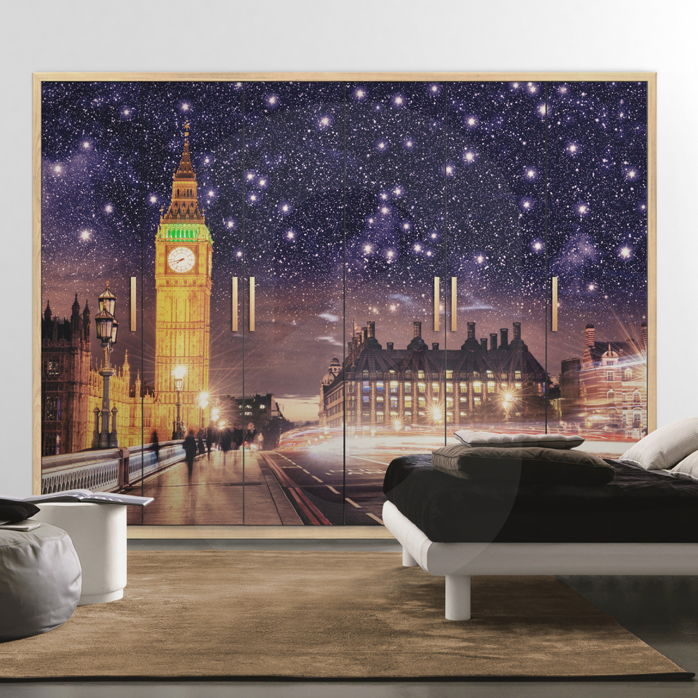 Αυτοκόλλητο ντουλάπας LONDON NIGHT