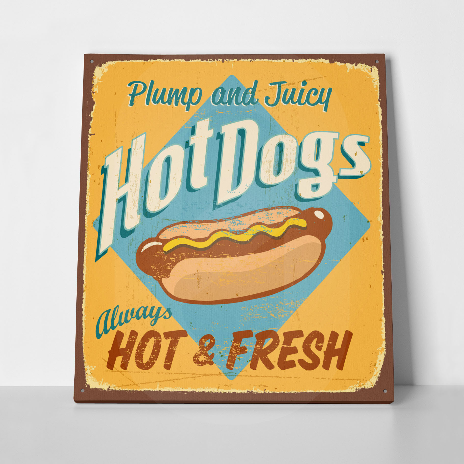 Πίνακας RETRO SIGN HOTDOGS