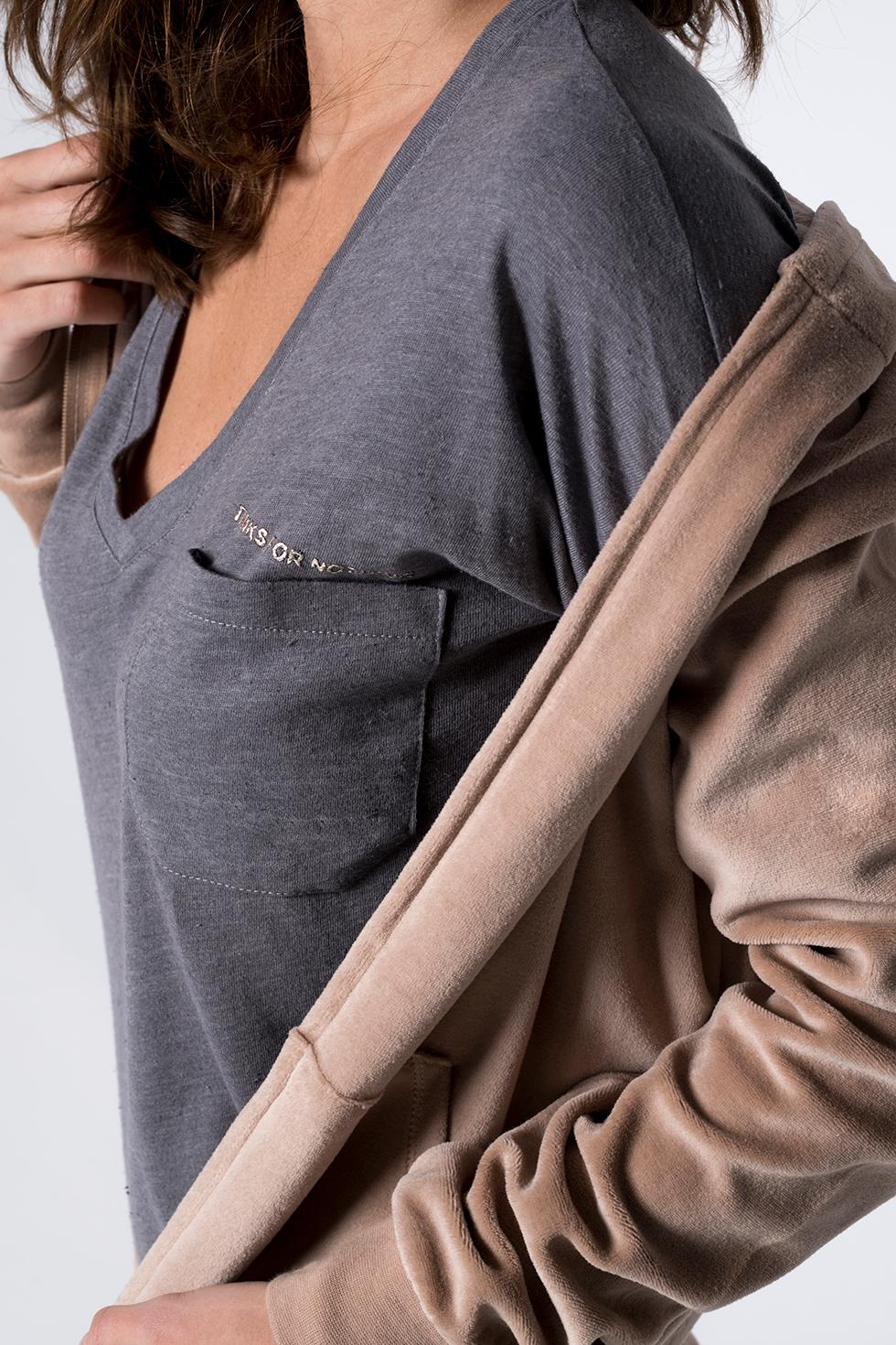 ΜΑΚΡΥΜΑΝΙΚΟ ΤΟΠ ΜΕ ΤΥΠΩΜΑ ΣΤΗΝ ΤΣΕΠΗ - ΓΚΡΙ ΜΕΛΑΝΖΕ winter offers μπλουζακια