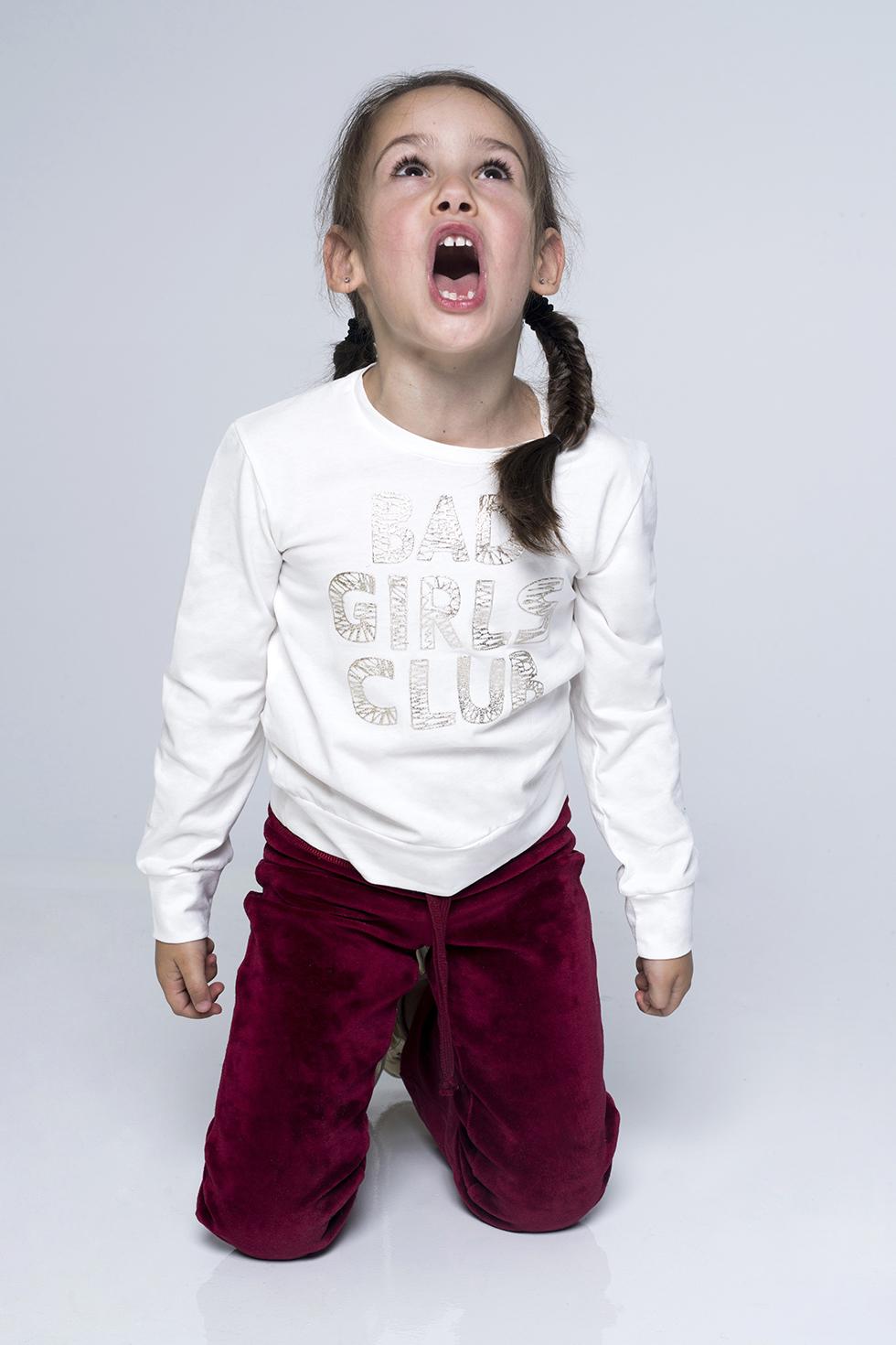 ΠΑΙΔΙΚΟ ΜΠΛΟΥΖΑΚΙ 'BAD GIRLS CLUB' - ΛΕΥΚΟ ΤΟΥ ΠΑΓΟΥ