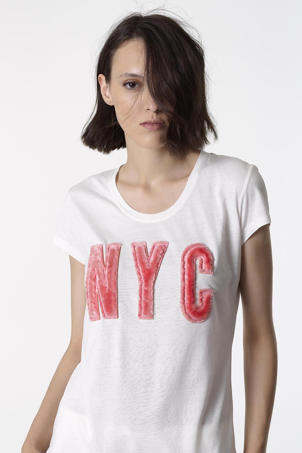 ΛΕΥΚΗ ΚΟΝΤΟΜΑΝΙΚΗ ΜΠΛΟΥΖΑ 'NYC' - ΛΕΥΚΟ ΤΟΥ ΠΑΓΟΥ