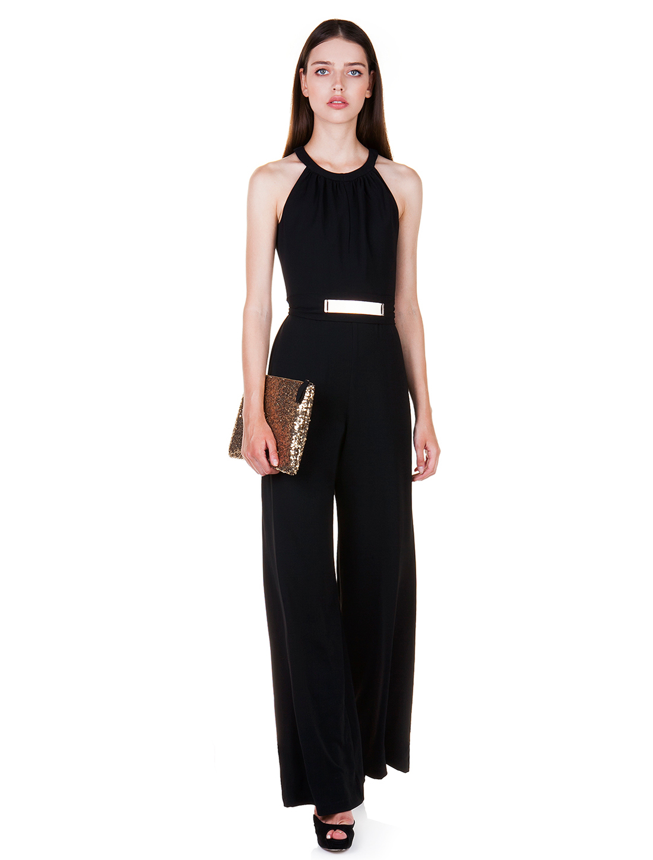 e357119b9e5c 59.50 € στο ToiMoi. Ολόσωμη φόρμα με μεταλλική ζώνη - ΜΑΥΡΟ