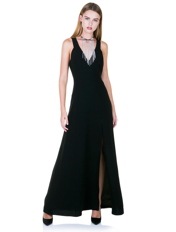b74570314956 Μακρύ φόρεμα με σκίσιμο - ΤΥΠΟΣ