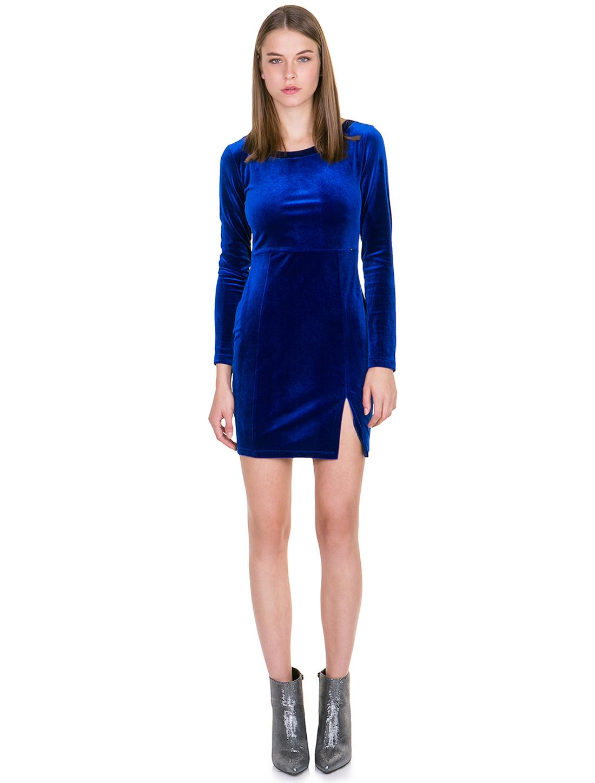 f5bc6807dad1 Μίνι φόρεμα από βελούδο - ΜΠΛΕ ΡΟΥΑ