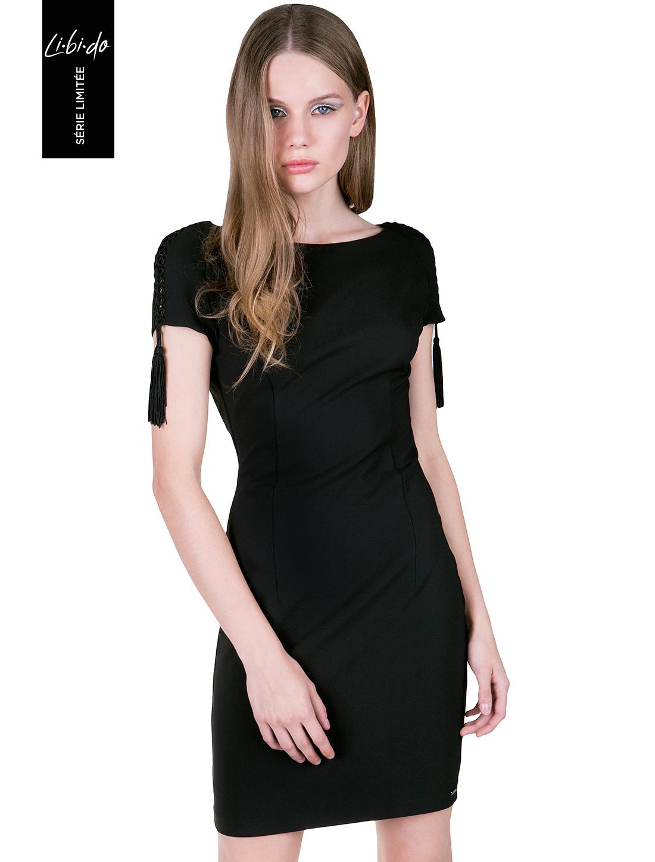2dd34ae14c2 99.00 € στο ToiMoi. Libido: Μίνι εφαρμοστό φόρεμα με ανοιχτή πλάτη - ΜΑΥΡΟ