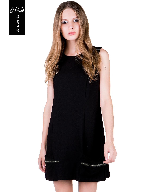 f96d9cd8291 44.50 € στο ToiMoi. Libido: Μίνι φόρεμα με διακοσμητικές λεπτομέρειες -  ΜΑΥΡΟ