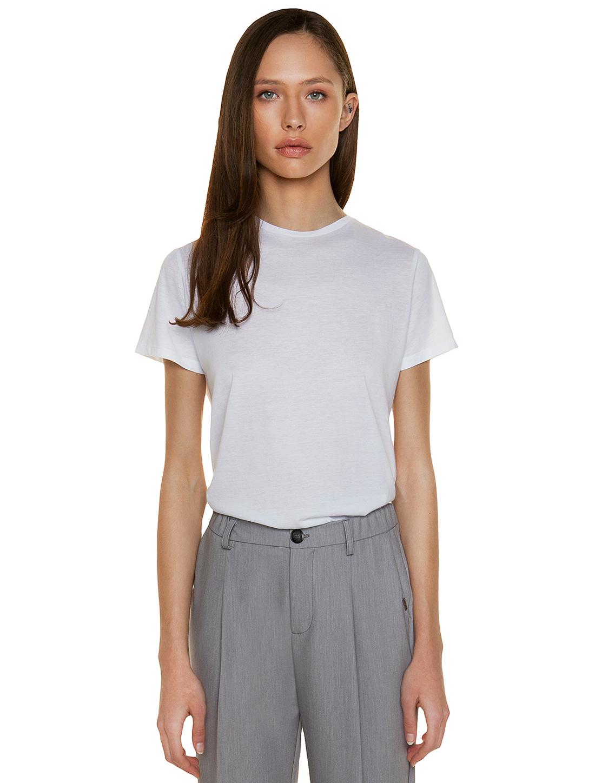 c244ab7fa217 T-shirt με κλειστή λαιμόκοψη - ΛΕΥΚΟ