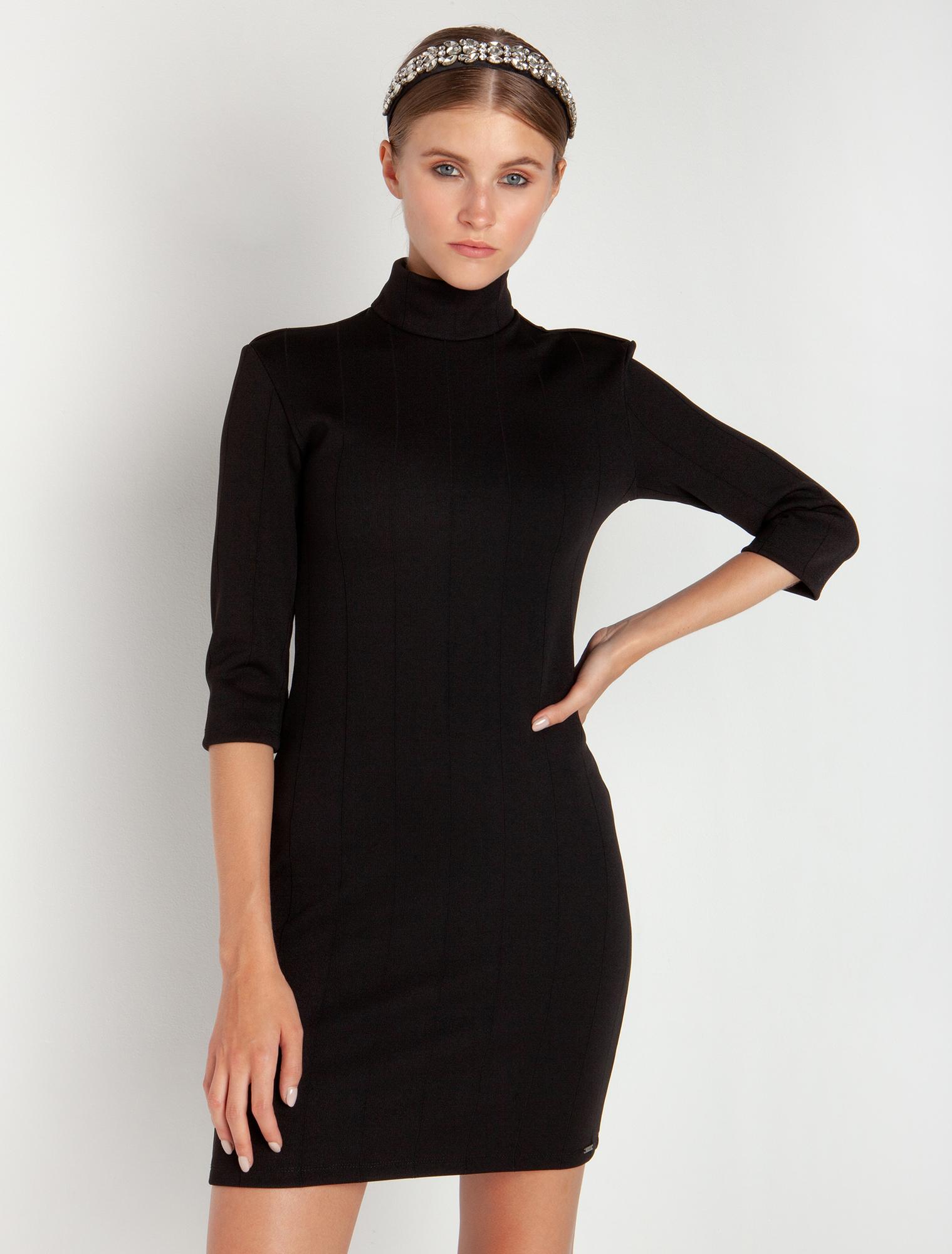 Φόρεμα με ανοιχτή πλάτη - ΜΑΥΡΟ