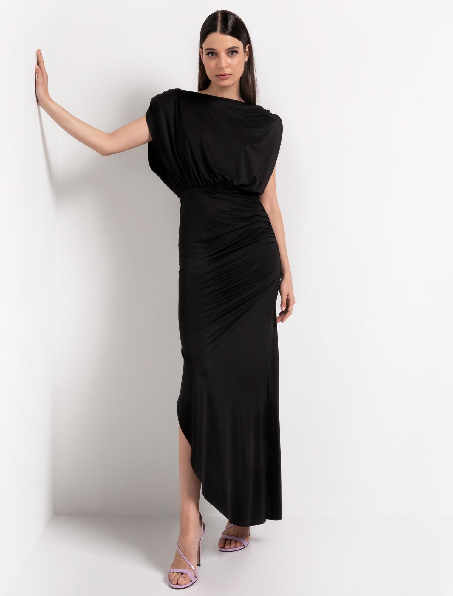 Maxi φόρεμα με ανοιχτή πλάτη - ΜΑΥΡΟ