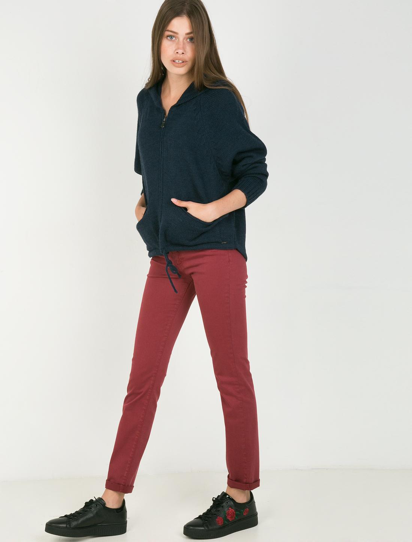 Basic πεντάτσεπο παντελόνι - ΜΠΟΡΝΤΩ