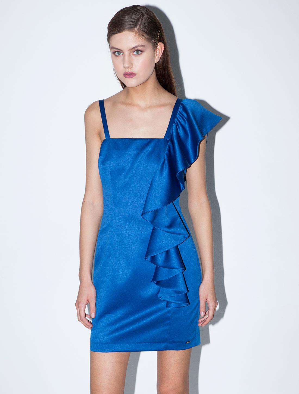 Φόρεμα με βολάν - ΜΠΛΕ ΡΟΥΑ
